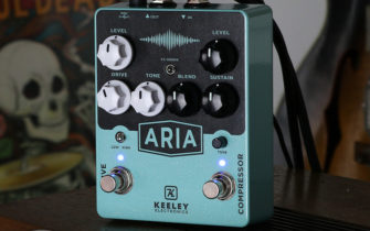 Keeley Reveals the Aria Overdrive and Compression Stompbox