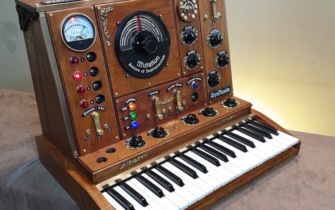 The SynTesla is a Steampunk Synth Based On a Waldorf String Module